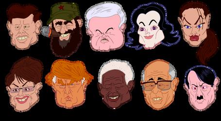 Famous Faces by Gouacheman