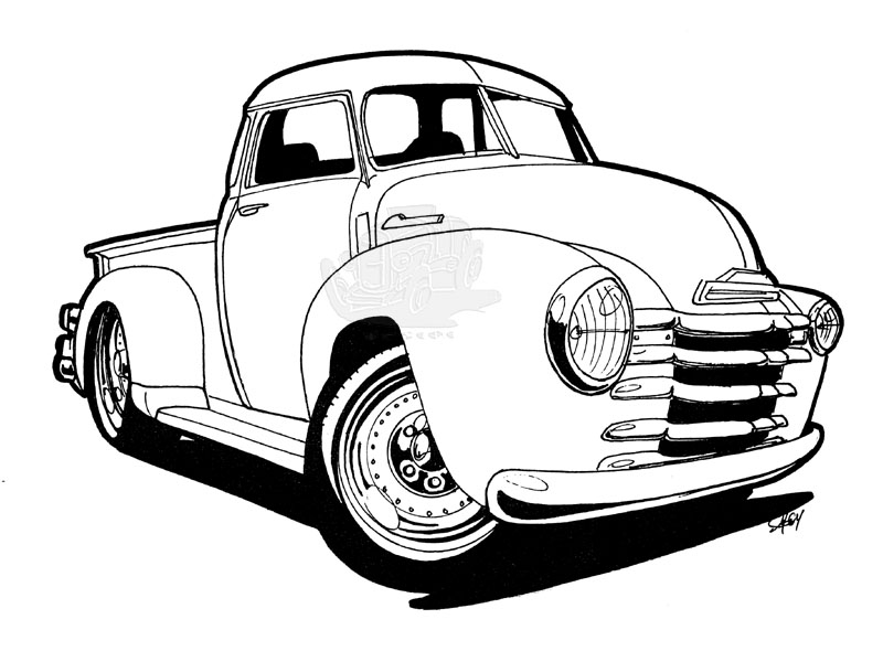 Another '50s Chevy Pickup by scottie32 on DeviantArt