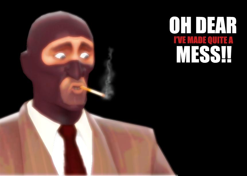 Tf2 Spray Spy Tf2 Spy by Thebomblu