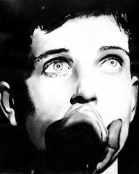 Ian Curtis by chrisbaggott