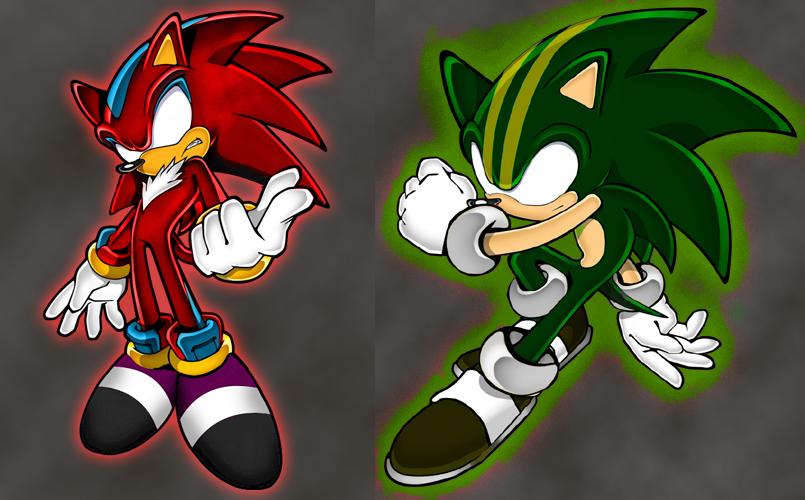 Darkspine Sonic Vs Darkspine Shadow