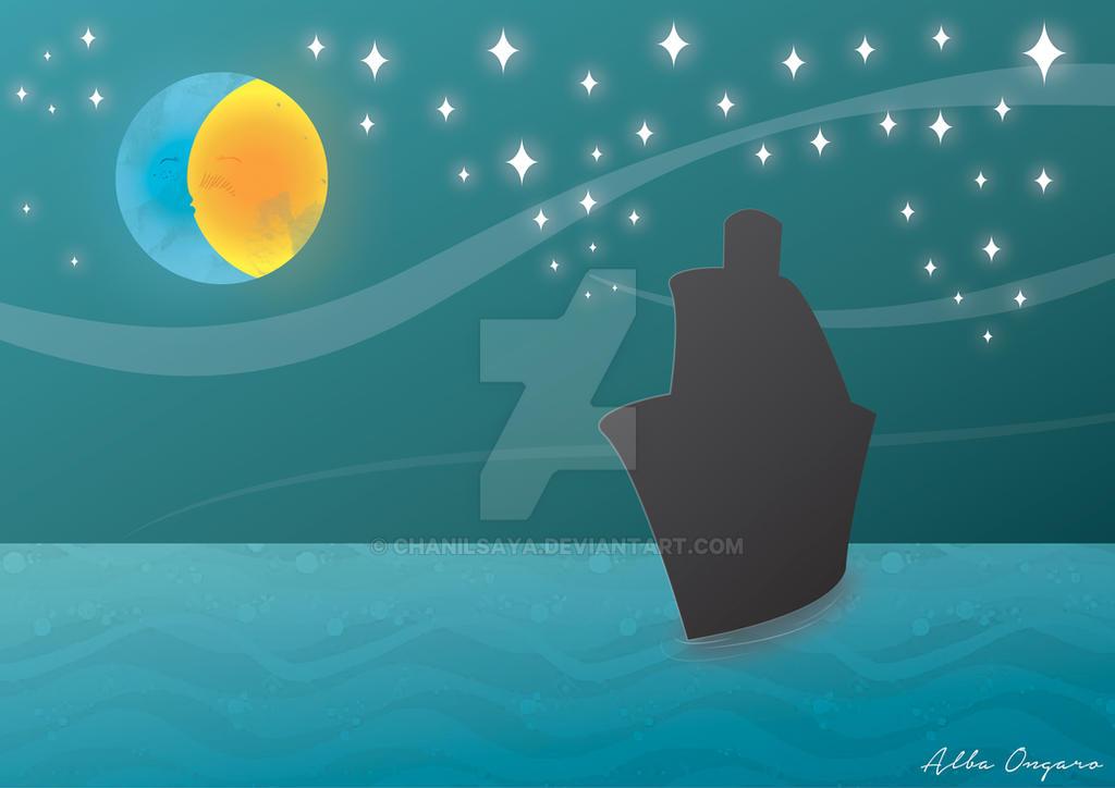Moon and Sun by babialbathefirst