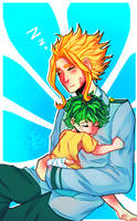 Young Might and Little Deku by VioletTrinity