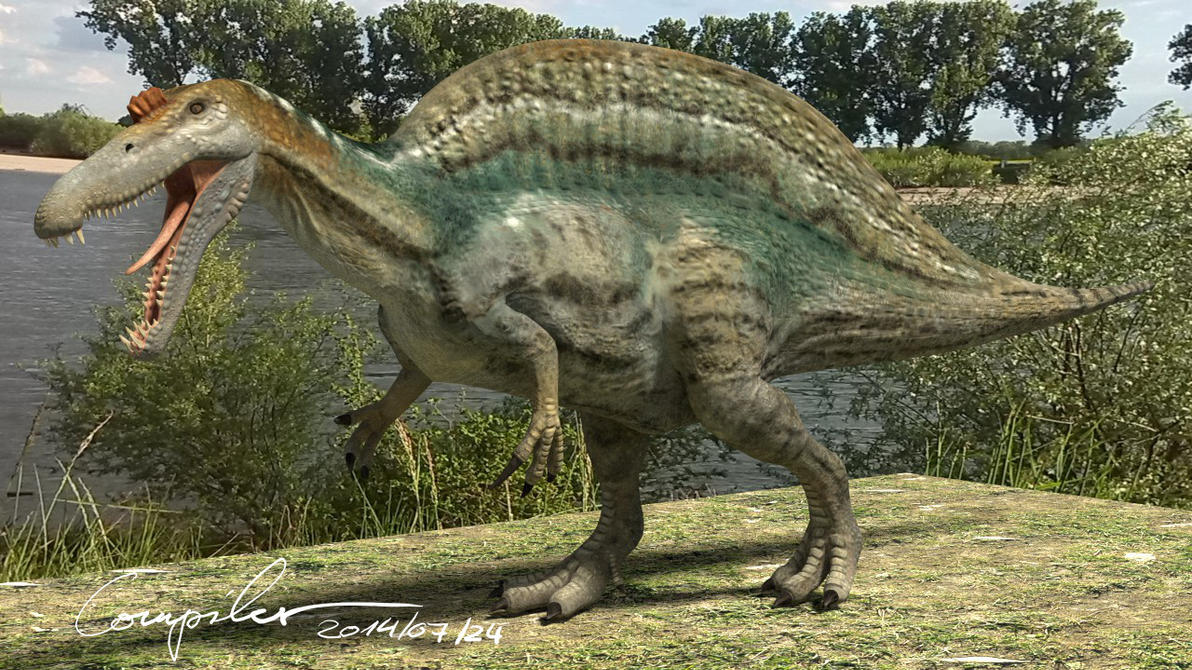 spinosaurus aegyptiacus 20140722 by ccompiler on deviantart
