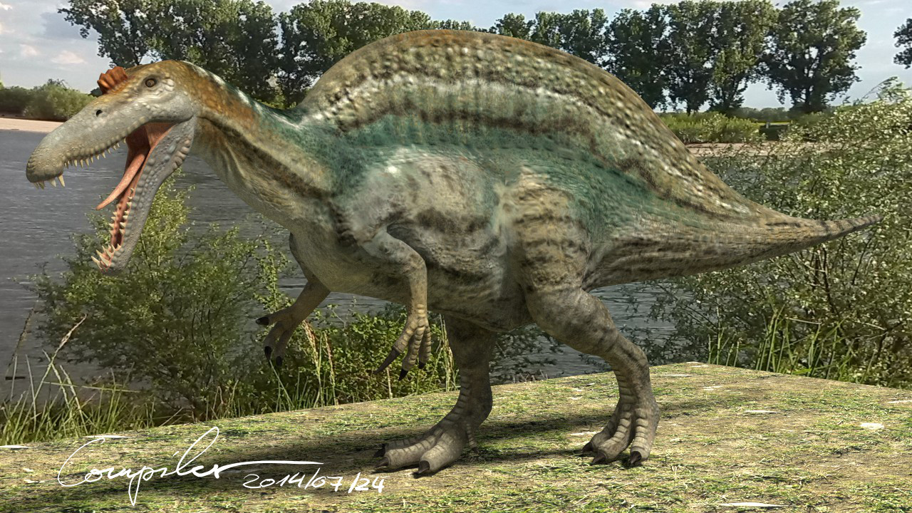 Spinosaurus aegyptiacus - 20140722 by c-compiler on DeviantArt: c-compiler.deviantart.com/art/Spinosaurus-aegyptiacus-20140722...