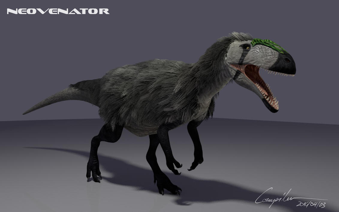 Neovenator In 3d Feathered Version By C Compiler On