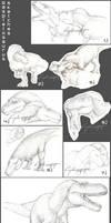 Daspletosaurus Sketch Compilation