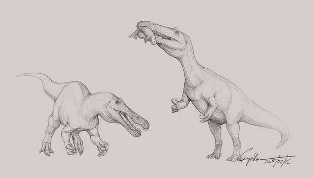 Baryonyx sketches