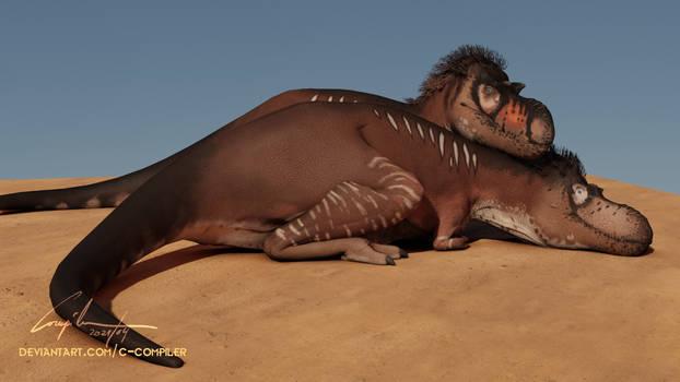 Calmness of the Albertosaurus