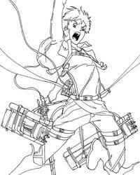 Eren Yeager- Line art by azuregundam