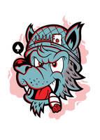 Old Hand Wolf Design Version 2 by THNKboy