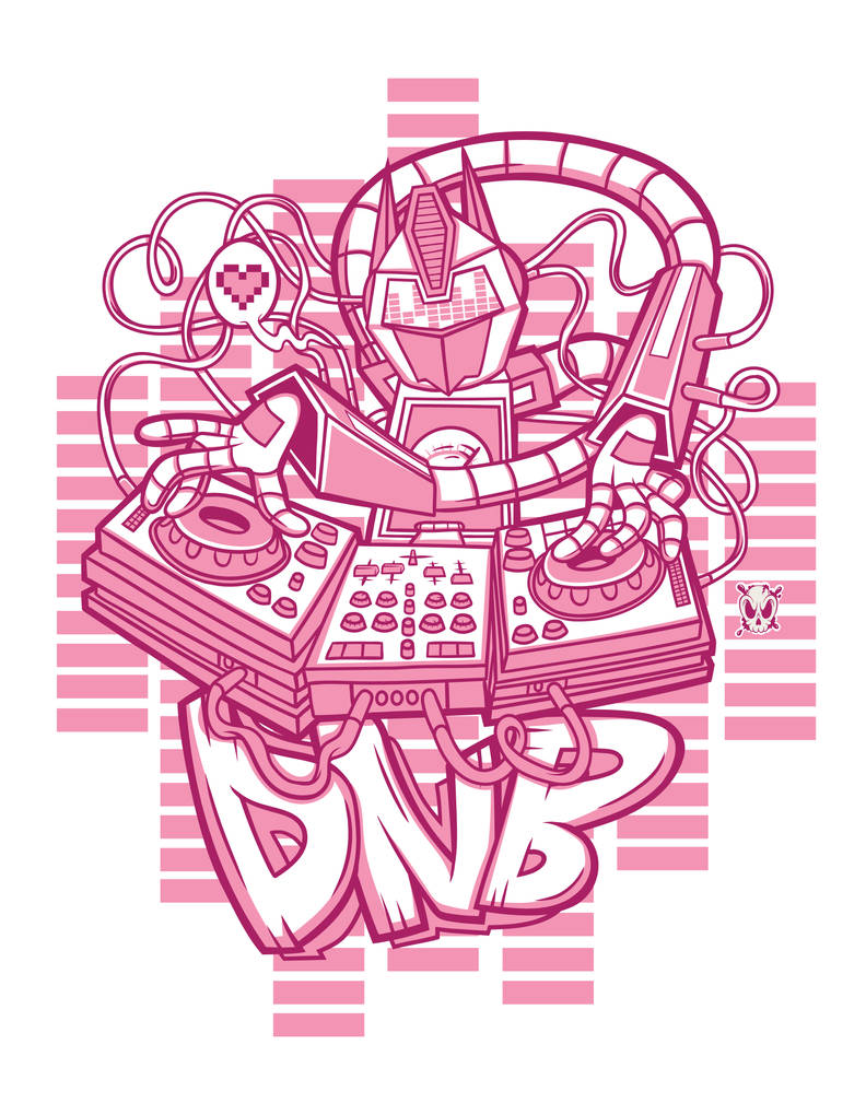 DnB Robot DJ by THNKboy