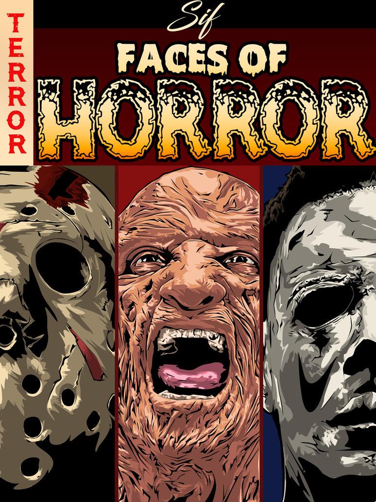 Faces Of Horror Vol.1 by daartist0490