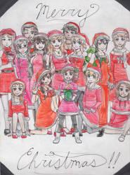 Merry Christmas!! Hetalia Girls by GMPGunso