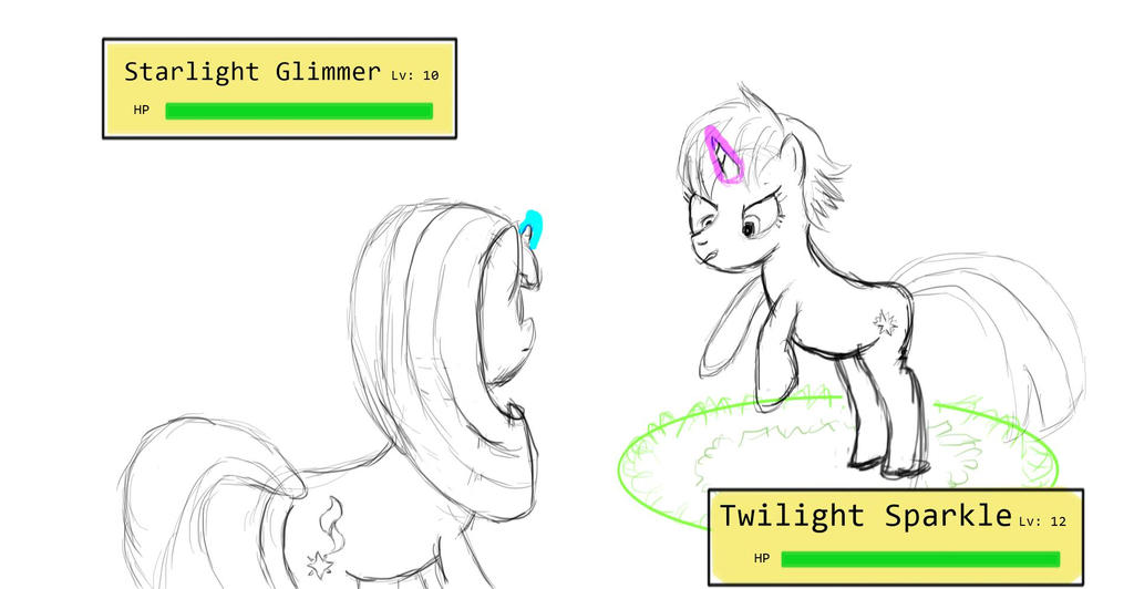 Twilight Starlight Battle by SunDaw