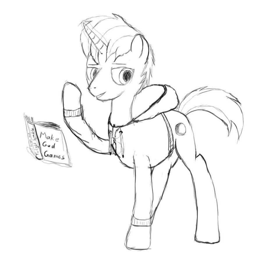 SunDaw reading sketch by SunDaw
