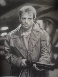 Michael Biehn as Kyle Reese in 'The Terminator' by dreerose