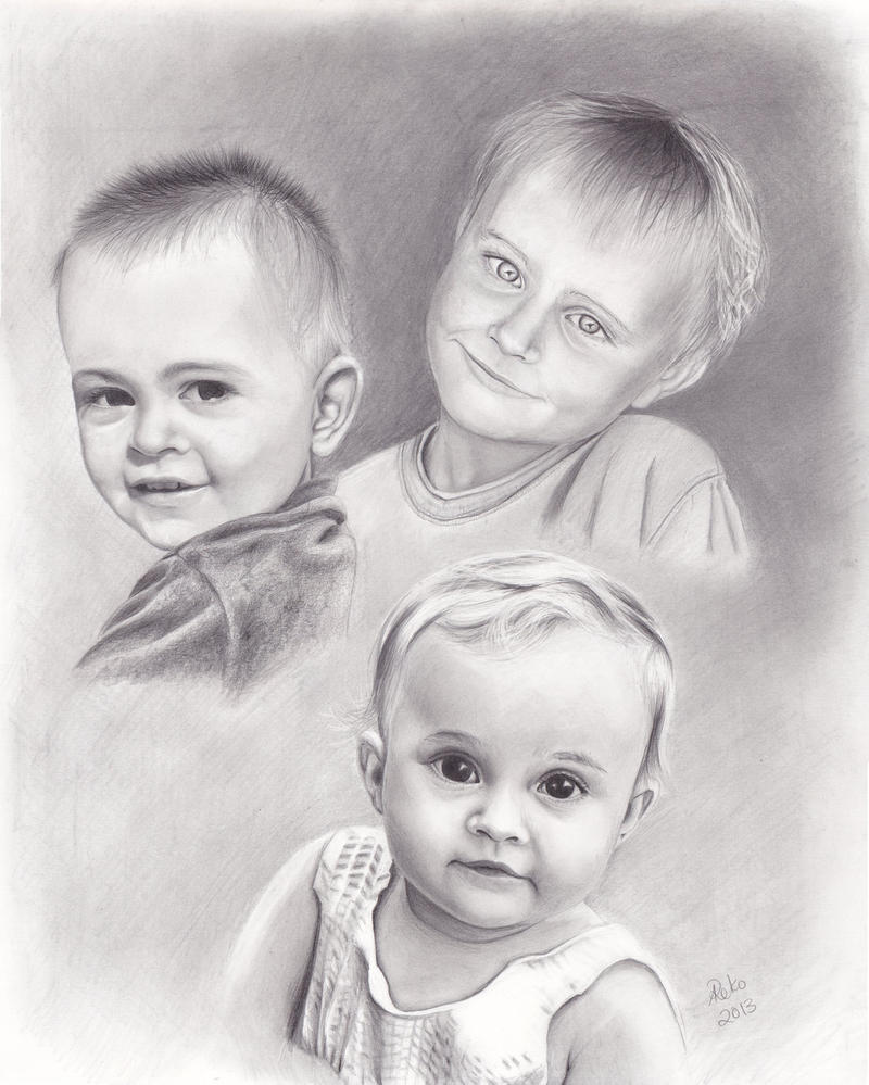 3 Kids by dreerose
