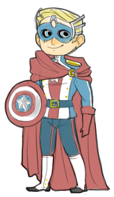 Avengers: Cap's Masquerade costume by cocokat
