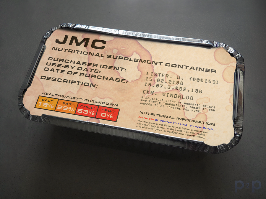 Red Dwarf Curry Carton by P2Pproductions