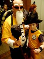 Master Roshi and Goku cosplay by morgoththeone