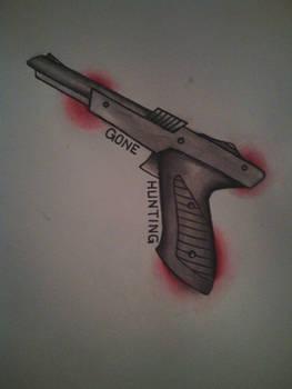 duck hunt tattoo flash