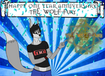 1 Year Anniversary On DA! by The-Wolf-Fury
