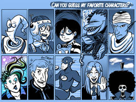 favourite characters meme by sonopants