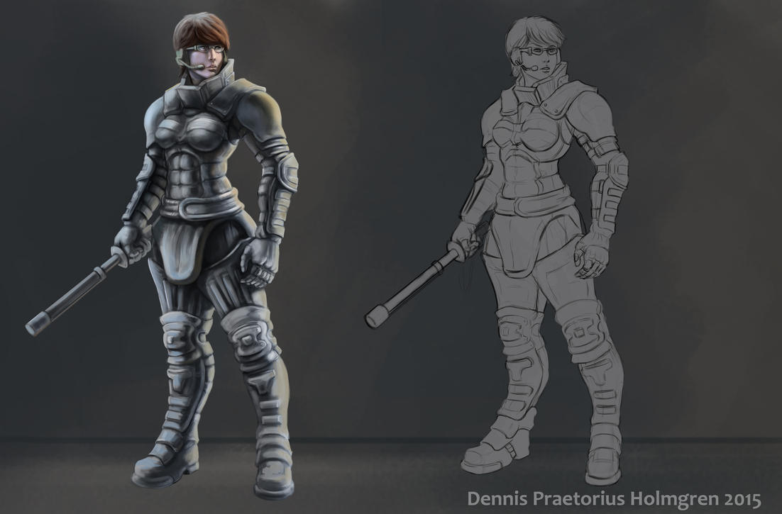Armored Police Girl by Zorrentos
