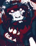 gorillabot scratching his chin! by rottenrabbitnantia