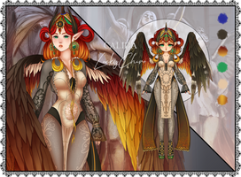 OPEN Adoptable Auction {Calida - Fire Empress} by LuckyChiro