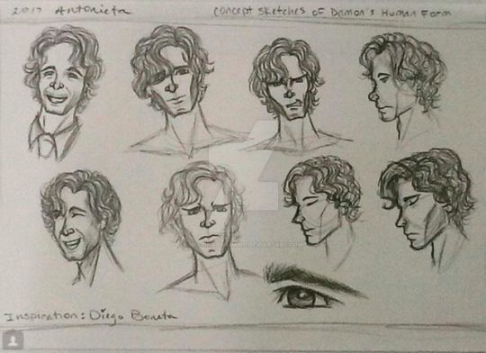 Concepts for Damon in Human Form by Imaginative-Mind