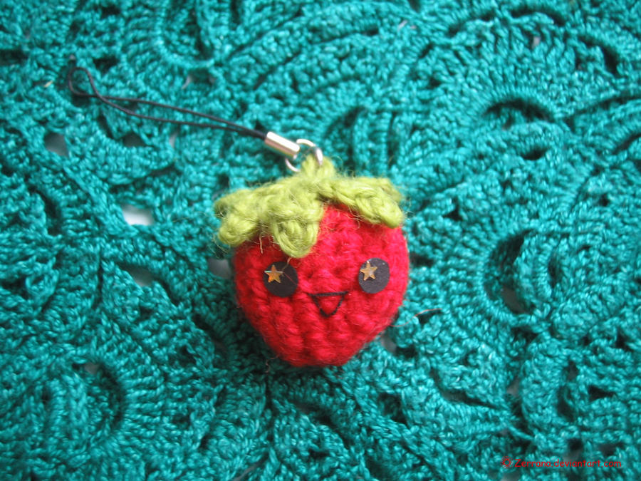 Amigurumi Strawberry Doll Pattern : Amigurumi Strawberry by Zerrana on DeviantArt