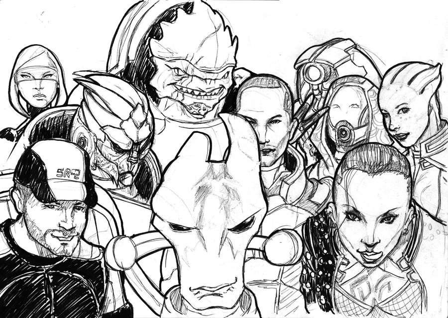 mass effect 3 coloring pages - photo#15