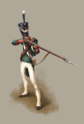 Russian infantry private 1812 by Hartman85