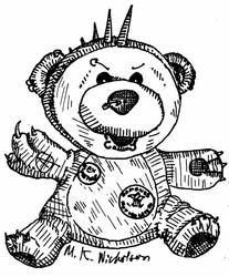 Punk Bear by glow-in-the-dark-fez