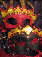 King and Queen of Diamonds Leather Masks by ToTheMask