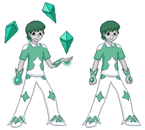 Gemsona - Chrysoprase Sprite by Never0ff