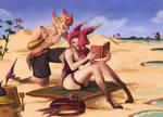 Xayah and Rakan Beach time !