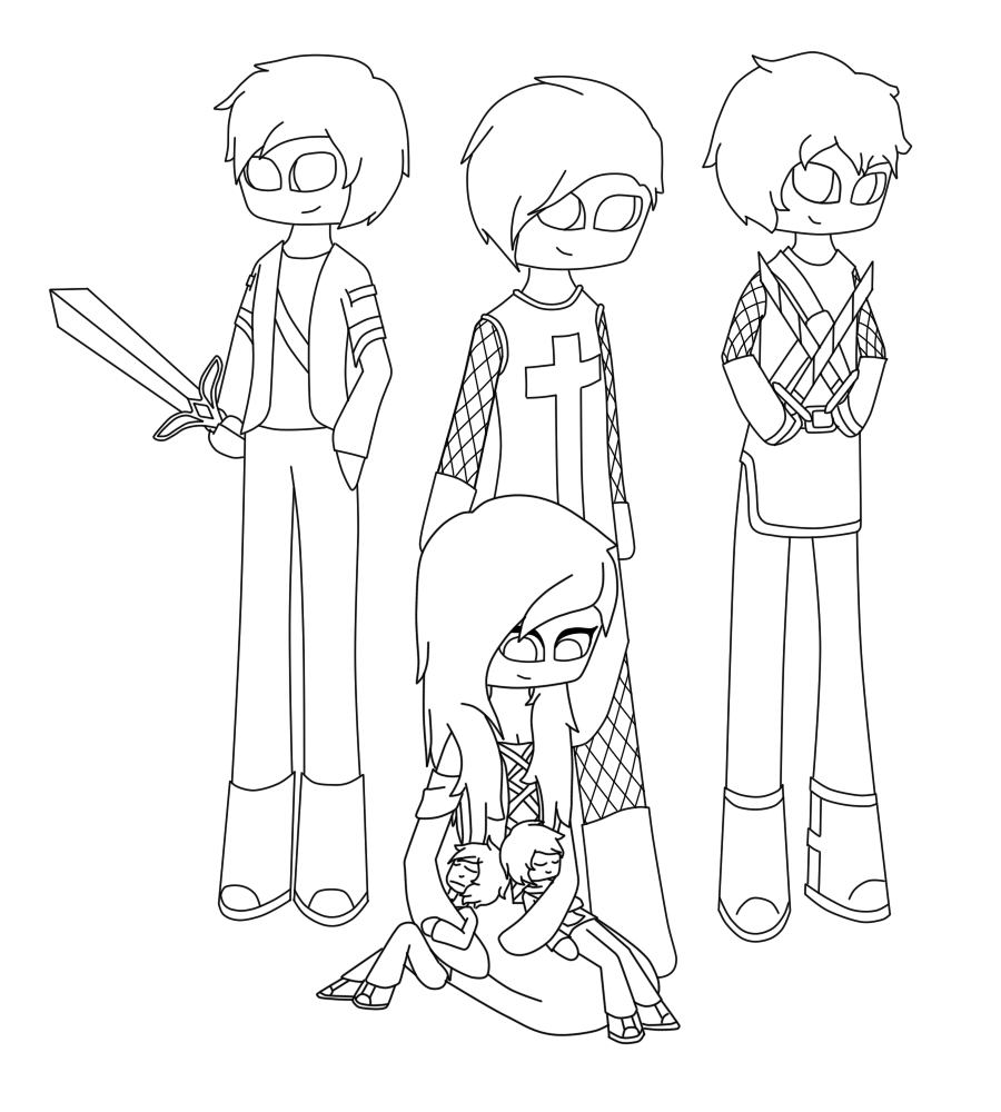 Baby aphmau youtuber coloring pages coloring pages for Aphmau coloring page