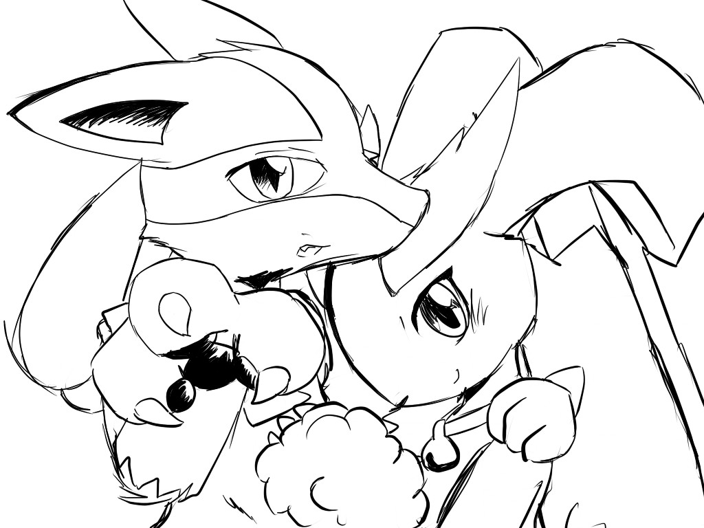 Lucario X Lopunny By Sylvia65charm On Deviantart