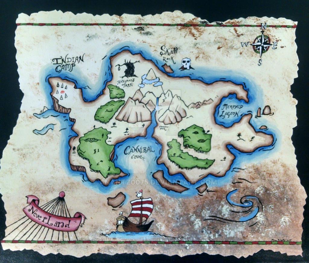 Neverland Map By Anantz0075 On Deviantart