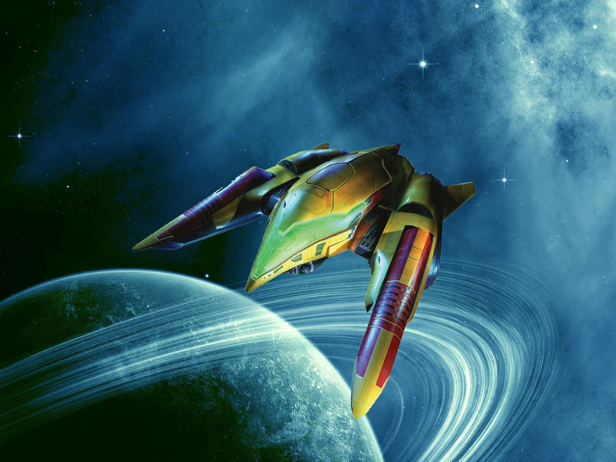 Samus' Ship by Ridley-Strikes-Back