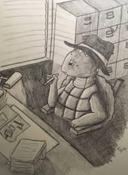Turtle Detective by WhimsyBridges