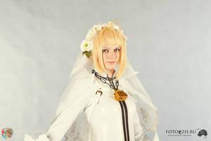 Fate extra CCC Saber bride by SelenaAdorian