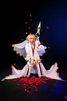Saber bride cosplay / fate extra CCC 3 by SelenaAdorian
