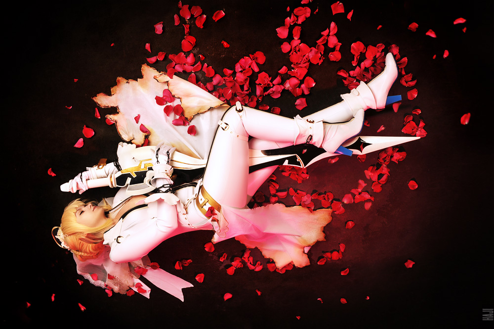 Saber bride cosplay / fate extra CCC 4 by SelenaAdorian