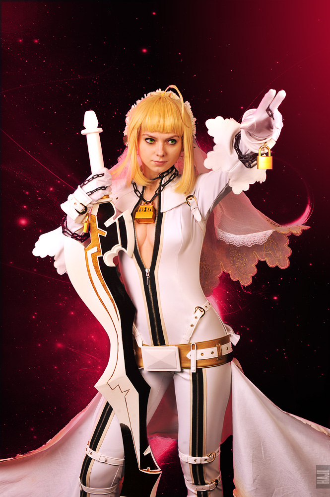 Saber bride cosplay / fate extra CCC 6 by SelenaAdorian