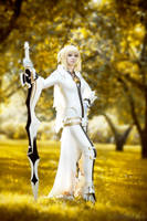 stay here - saber bride cospaly by SelenaAdorian