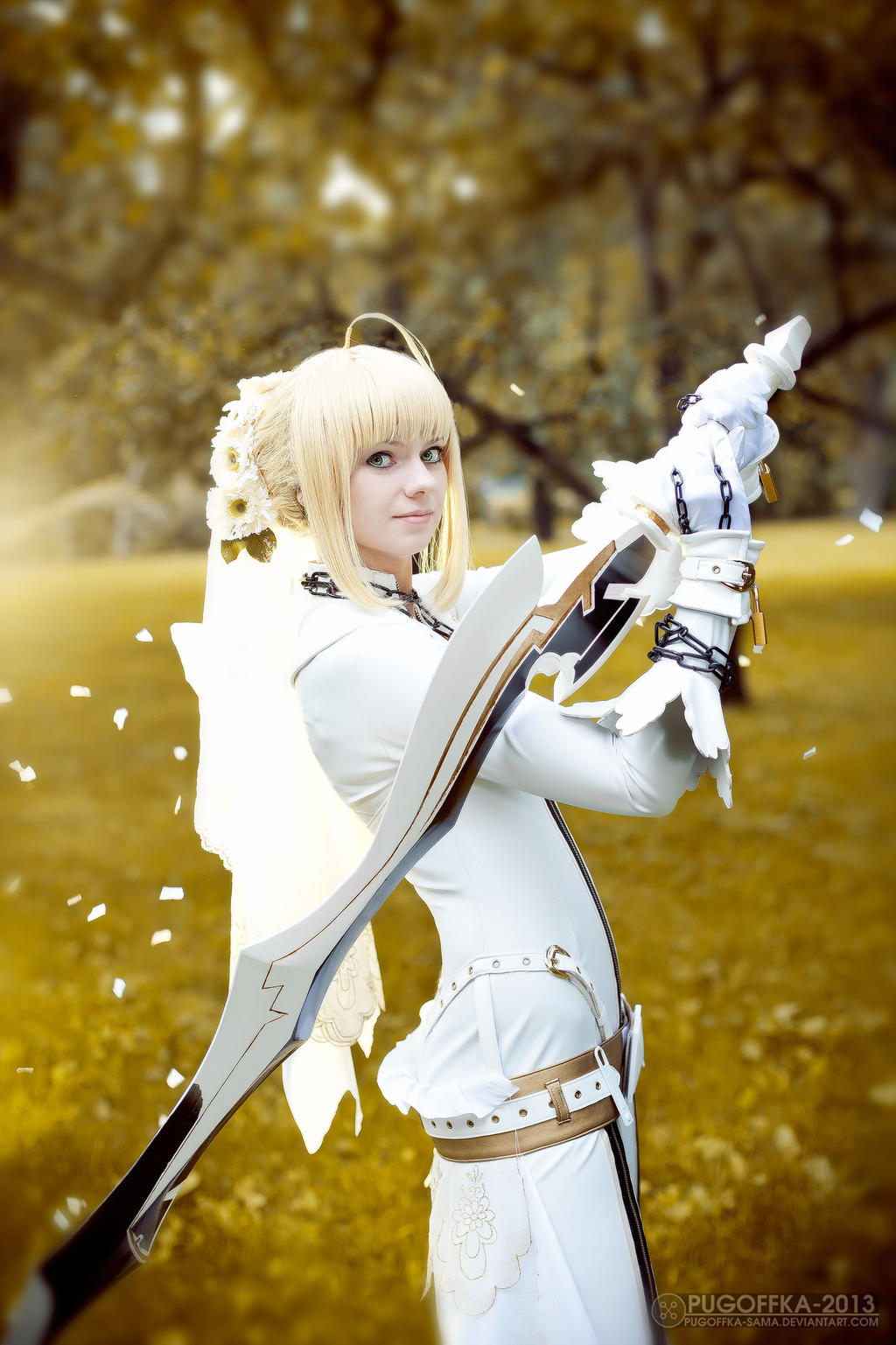 fate extra ccc saber bride cosplay by selenaadorian on